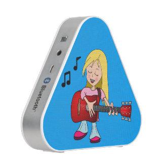 Joueur de guitare chanteur de fille Bluetooth Haut-parleur Bluetooth