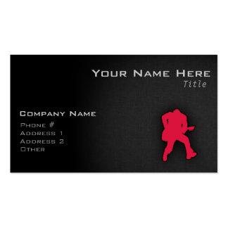 Joueur de guitare de rouge cramoisi carte de visite standard