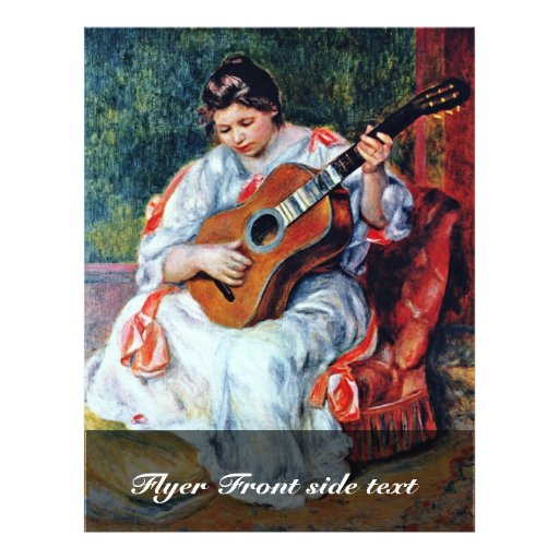 Joueur de guitare par Pierre-Auguste Renoir Prospectus Personnalisés