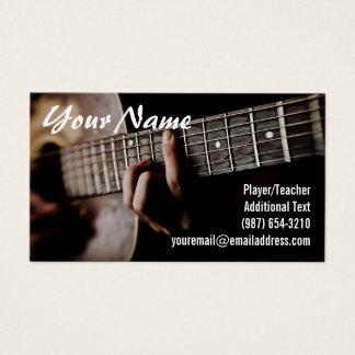 Joueur de guitare - professeur - compositeur - cartes de visite