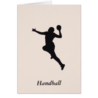Joueur de handball carte de vœux