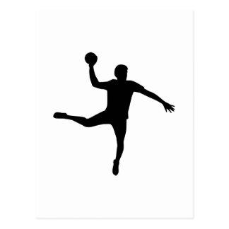 Joueur de handball carte postale