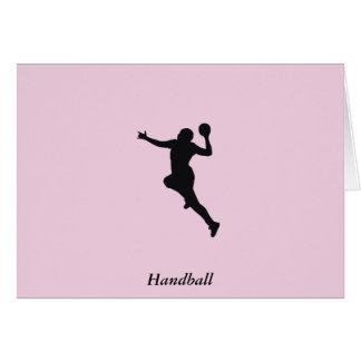 Joueur de handball cartes de vœux