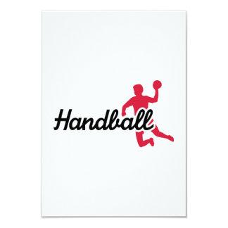 Joueur de handball invitations