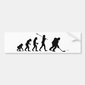 Joueur de hockey de glace autocollant de voiture