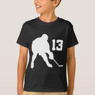 Joueur de hockey Jersey numéro 13 de glace T-shirt