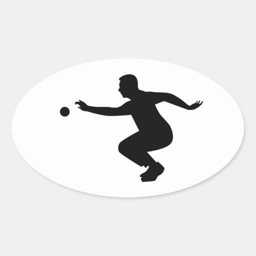 Joueur de Petanque Adhésifs
