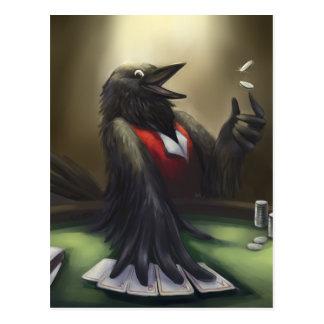 Joueur de poker carte postale