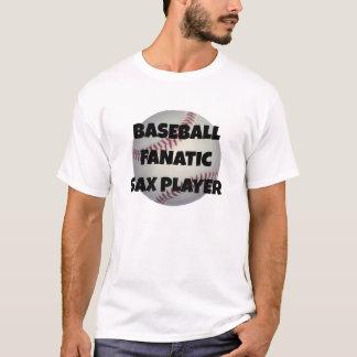 Joueur de saxo fanatique de base-ball t-shirt