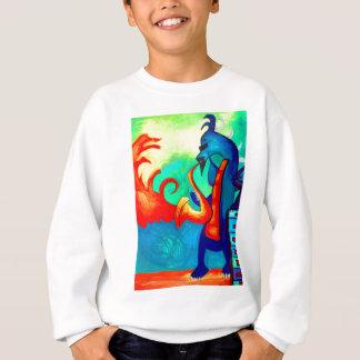 Joueur de saxophone de dragon sweatshirt