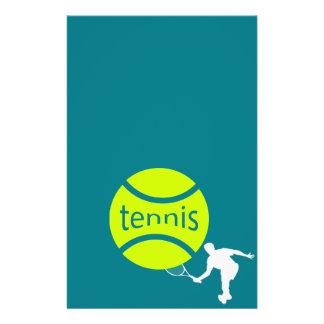 Joueur de tennis prospectus 14 cm x 21,6 cm