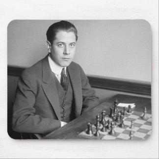 Joueur d'échecs de champion du monde, 1915 tapis de souris