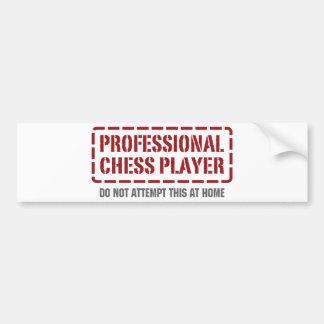 Joueur d'échecs professionnel autocollant de voiture
