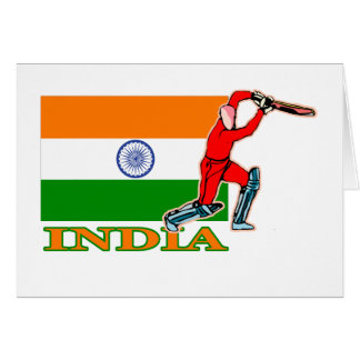 Joueur indien de cricket cartes
