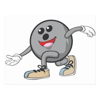 Joueur mignon de boule de bowling carte postale