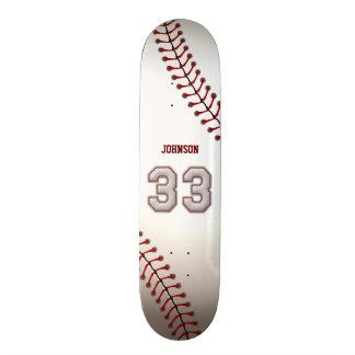 Joueur numéro 33 - points frais de base-ball skateboard customisable