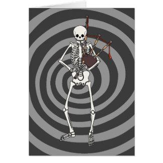 Joueur squelettique de cornemuse cartes