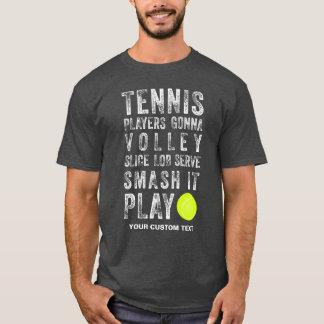 Joueurs de tennis vintages allant jouer la coutume t-shirt