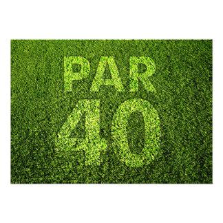 Jouez au golf la quarantième fête d'anniversaire