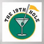 jouez au golf le 19ème humour de temps de boissons posters