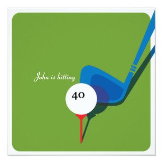 Jouez au golf le quarantième anniversaire - en carton d'invitation  13,33 cm