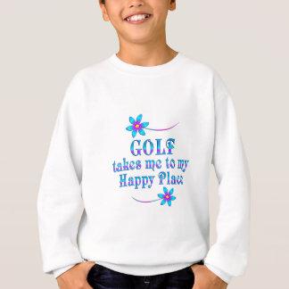 Jouez au golf mon endroit heureux sweatshirt