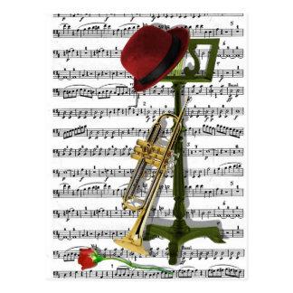 Jouez ce jazz cartes postales