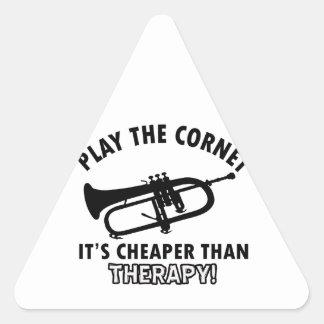 Jouez la trompette sticker en triangle