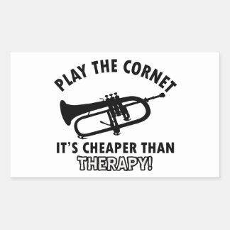 Jouez la trompette autocollants rectangulaires