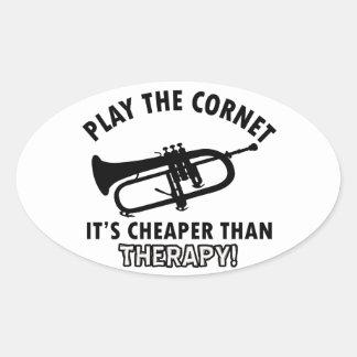 Jouez la trompette stickers ovales