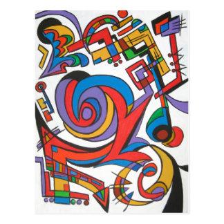 Jouez-moi du jazz - carte postale d'art abstrait