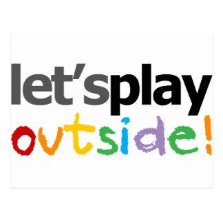 Jouons dehors ! carte postale