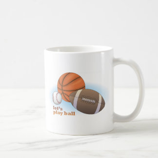 Jouons la boule : base-ball, basket-ball et mug