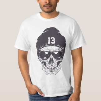 Jour 13 de crâne t-shirt