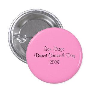 Jour 2009 du cancer du sein 3 de San Diego Badge Rond 2,50 Cm
