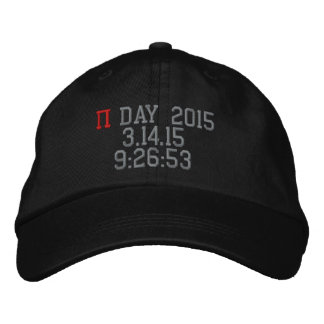 Jour 2015 de pi casquette brodée