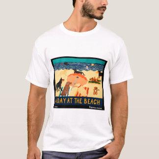 Jour à la plage - Stephen Huneck T-shirt