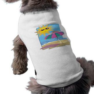 Jour à la plage t-shirt pour chien