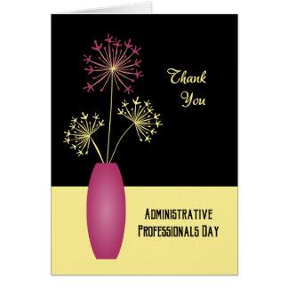Jour administratif de professionnels de fleurs de carte de vœux