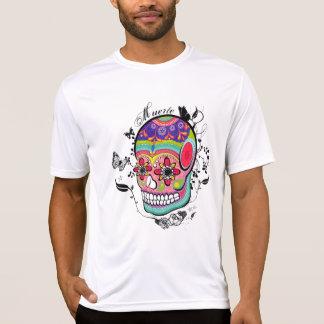 Jour artistique de crâne de Suagr de l'illustratio T-shirt