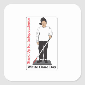 Jour blanc de canne sticker carré