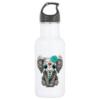 Jour bleu de l'éléphant mort bouteille d'eau