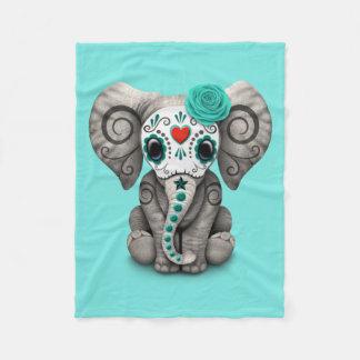 Jour bleu de l'éléphant mort couverture polaire