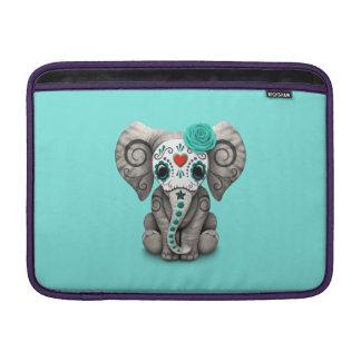 Jour bleu de l'éléphant mort poche macbook air