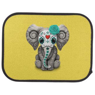 Jour bleu de l'éléphant mort tapis de voiture