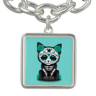 Jour bleu du chaton mort bracelets