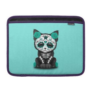 Jour bleu du chaton mort poche pour macbook air