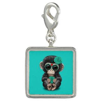 Jour bleu du chimpanzé mort breloques