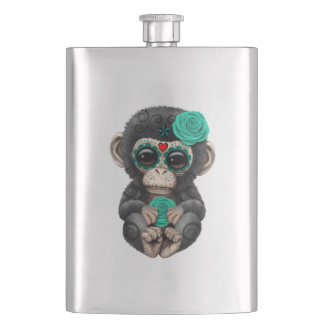 Jour bleu du chimpanzé mort flasque