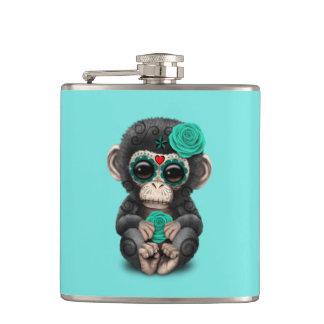 Jour bleu du chimpanzé mort flasques